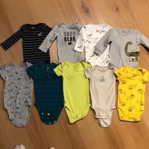 Set of 9 carters onesies size 3 months
